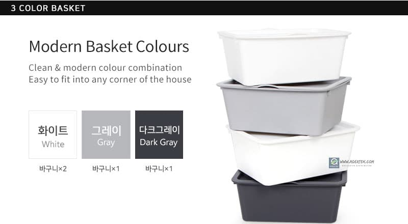 Modern Basket Colour in Gradient colour tone