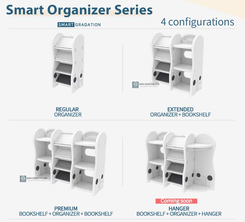 Pastel Compact Storage Organizer available configurations