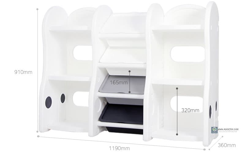 Smart Compact Storage Organizer dimension - 119x36x91cm