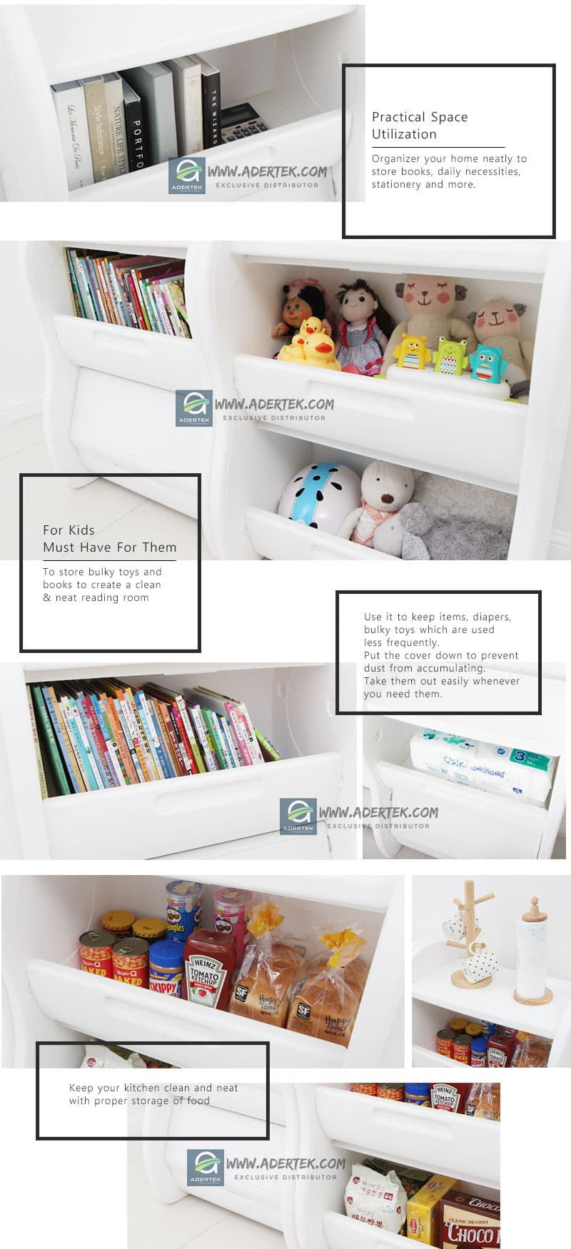 Elephant Toy Organizer can be used anywhere in the house
