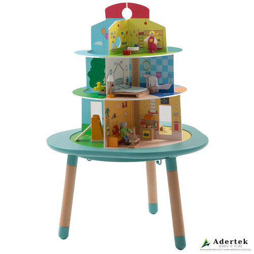 MUtable - Dolls Wooden Playhouse First Side