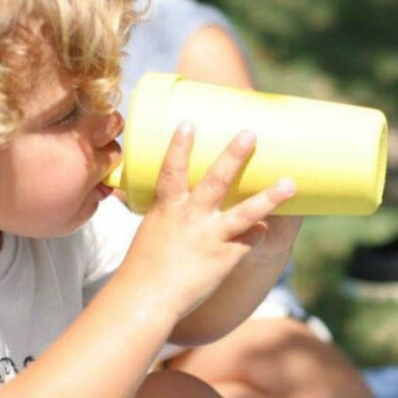 Kid Using Re-Play No Spill Sippy Cup