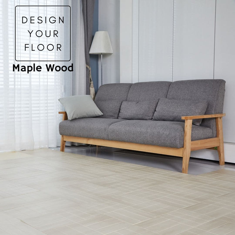 Alzip Puzzle Mat Maple Wood Living Room