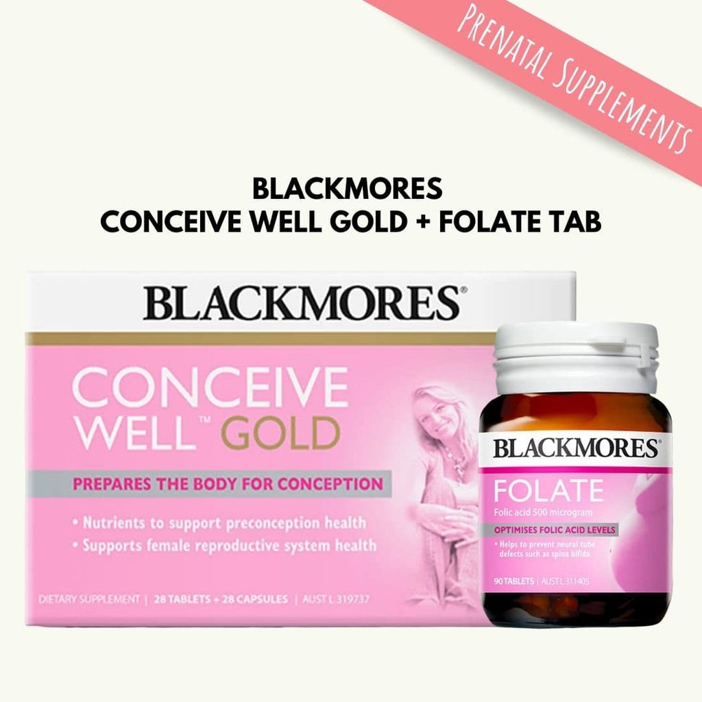 Blackmores Conceive Well Gold + Folate Bundle