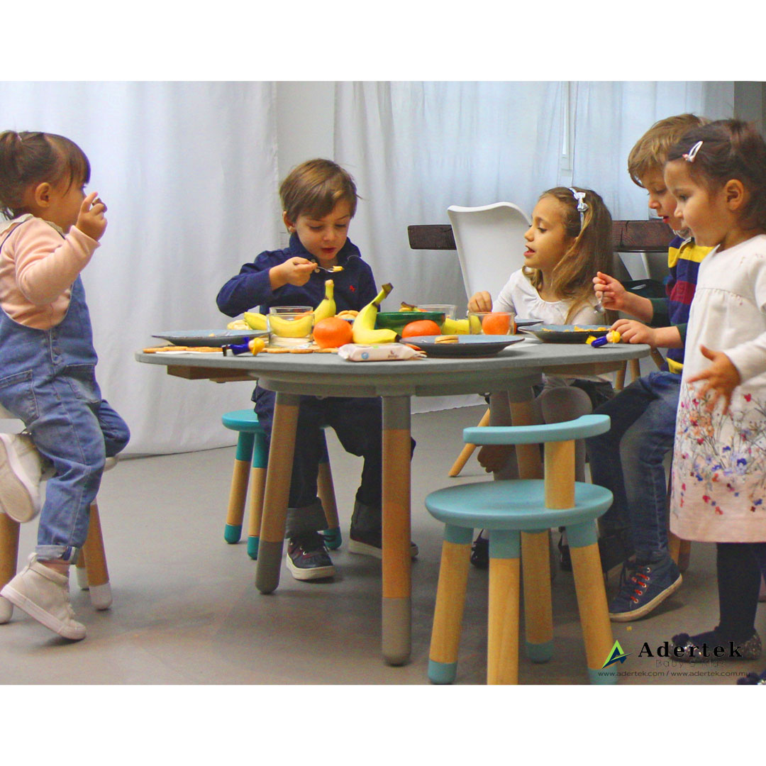 MUtable 6-seat Extension + Play Dough Board in use 2