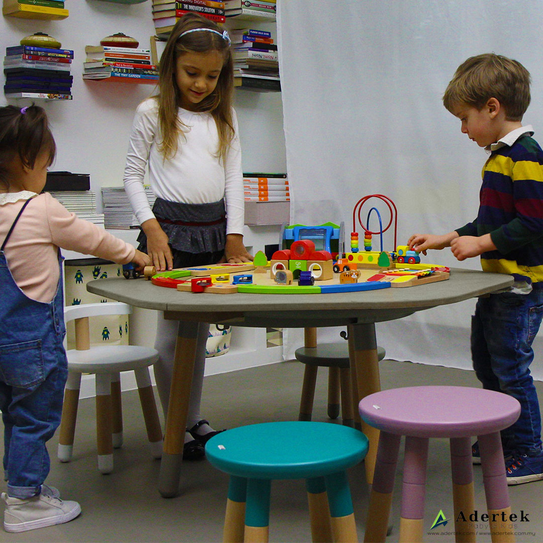 MUtable 6-seat Extension + Play Dough Board more fun