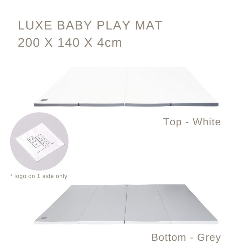 MyLO LUXE Play Mat Grey/White