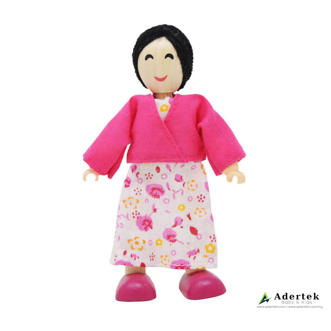 Happy Family Doll Set for Dolls Wooden Playhouse - Asian mother