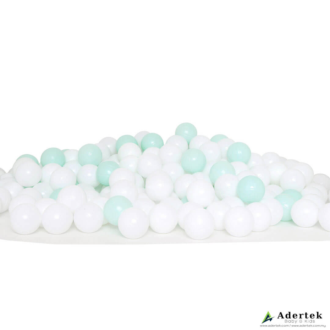 Ice Cream Ball (200 pcs) for ball pit - Mint+White ($29.90)