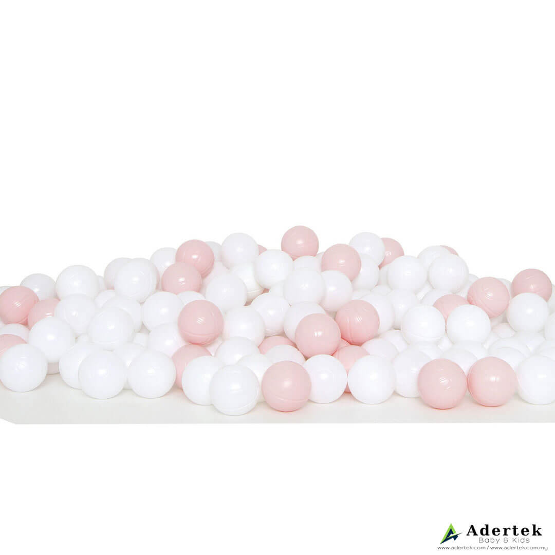 Ice Cream Ball (200 pcs) for ball pit - Pink+White ($29.90)