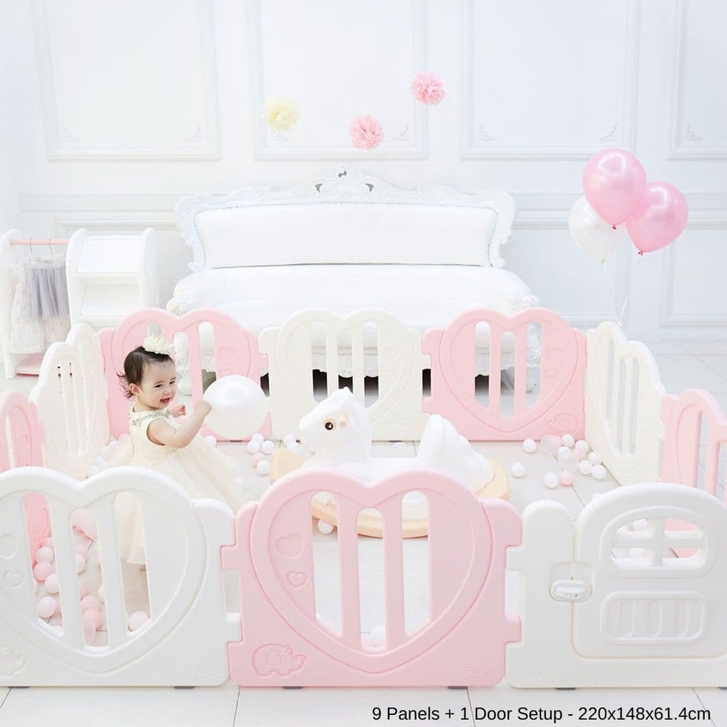 LOVE U Baby Play Yard with Door Set - Pink ($280)