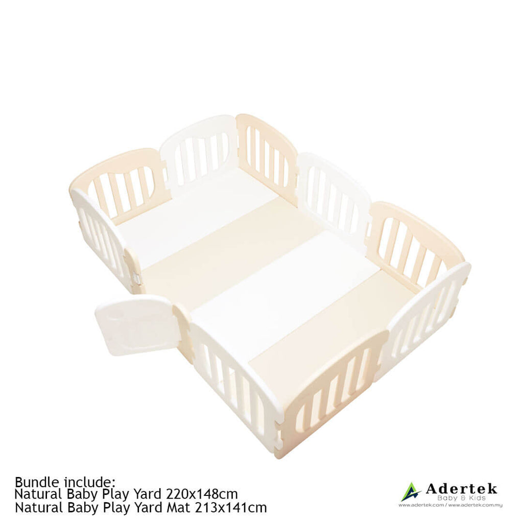 10% OFF Natural Baby Play Mat + Play Yard Bundle - Beige+White ($576)