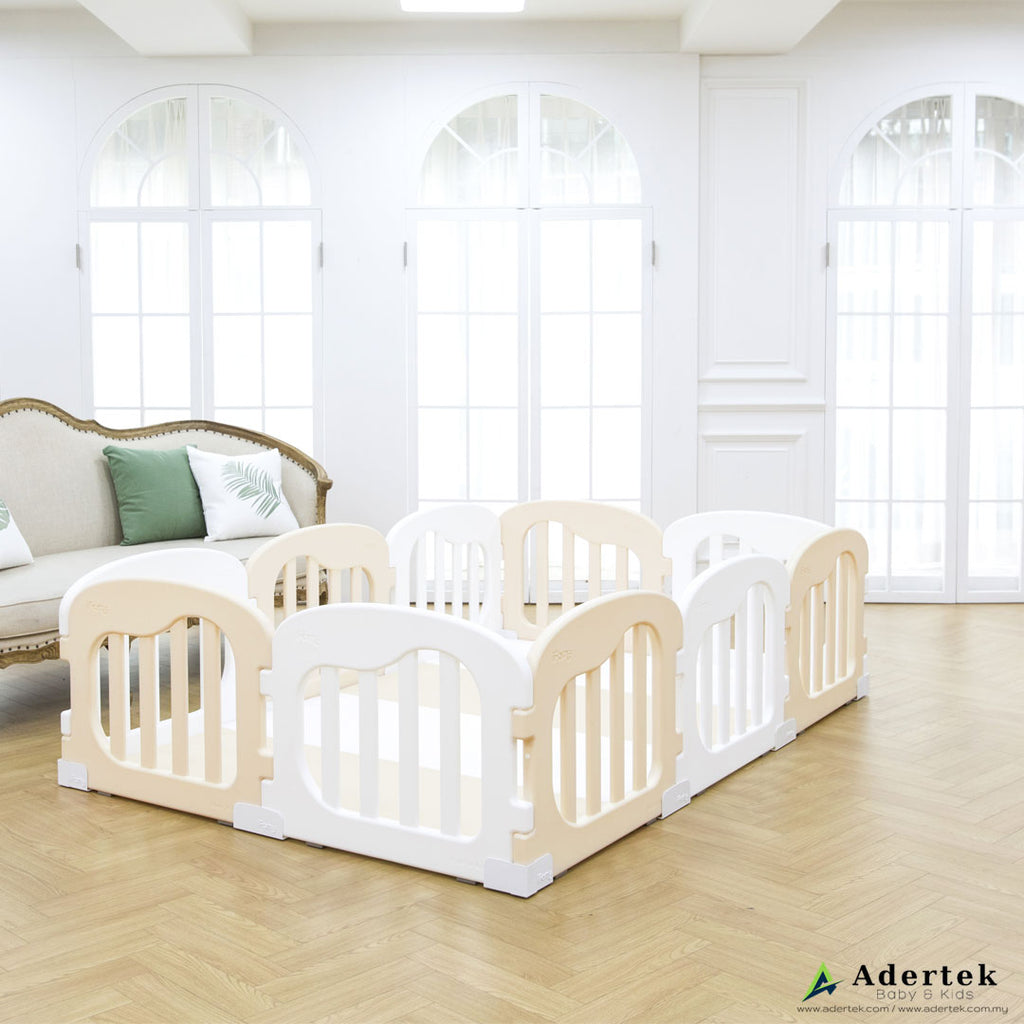 (Pre-Order) Natural Baby Play Yard (10 pcs incl. door) - IFAM (Made in South Korea) - Adertek Lifestyle