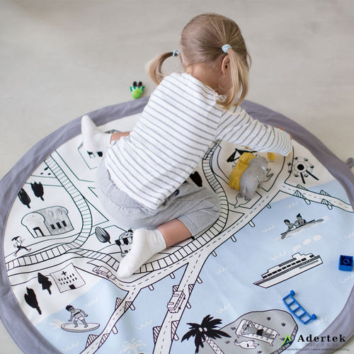 Comfortable & cozy play mat with their favourite toys