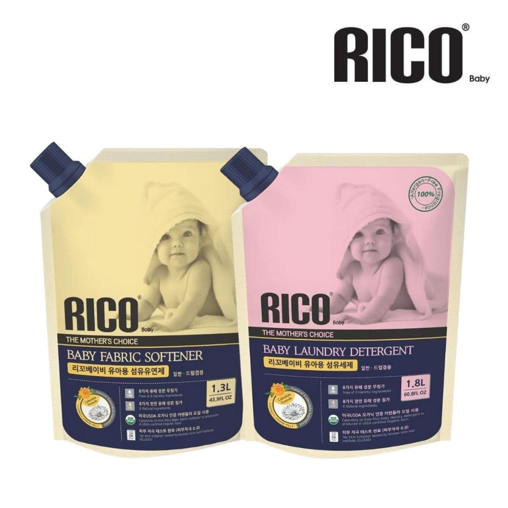 RICO Baby Laundry Detergent + Fabric Softener Bundle