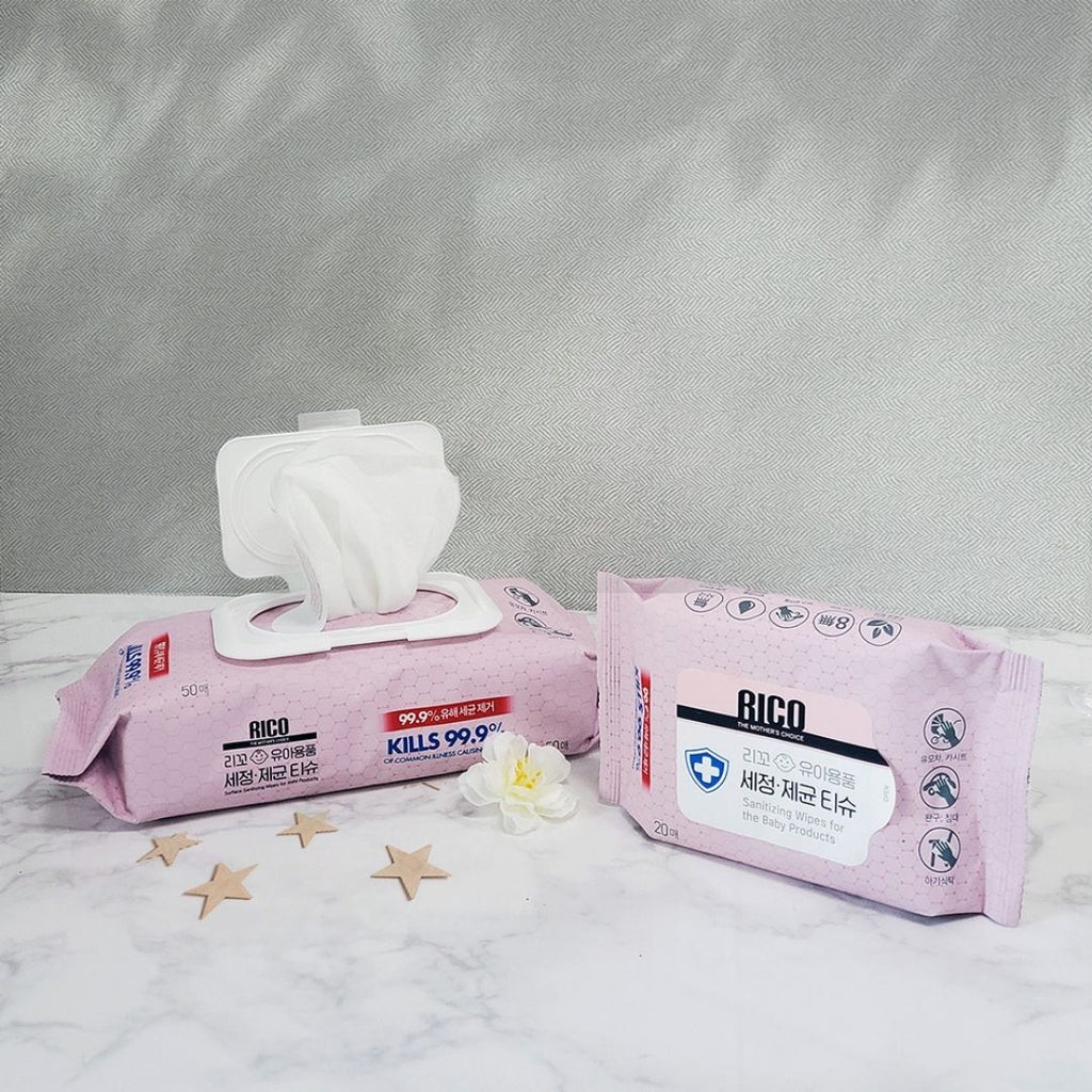 RICO Sanitizing Wipes instantly kills germs and bacteria