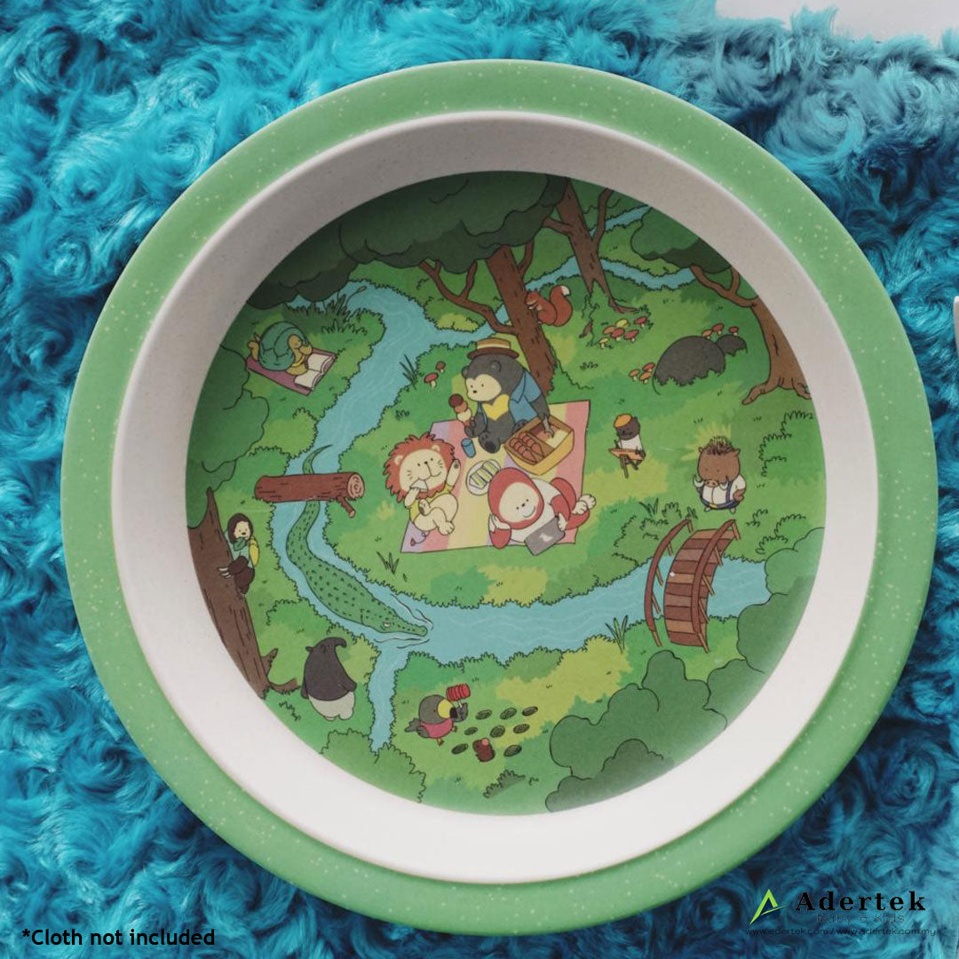 Rainforest Family Kids' Cutlery 5pcs Set Big Plate