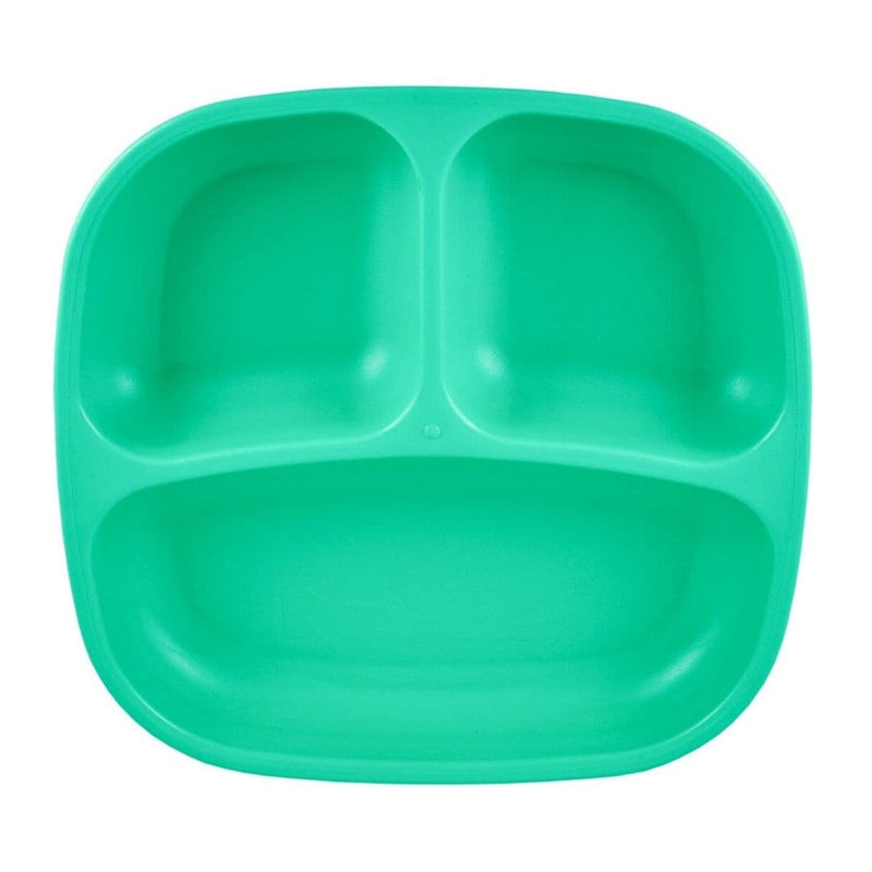 Re-Play Divided Plate Aqua
