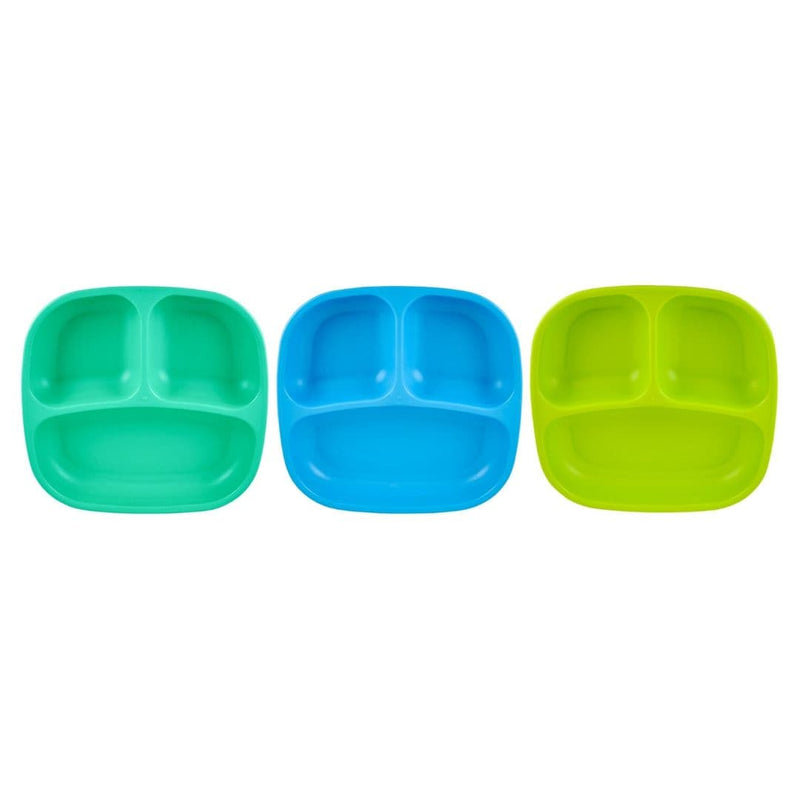 Re-Play Divided Plates (Set of 3) Boy