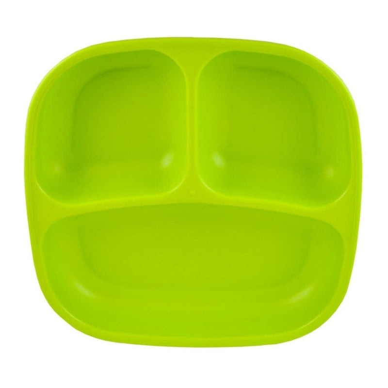 Re-Play Divided Plate Lime Green