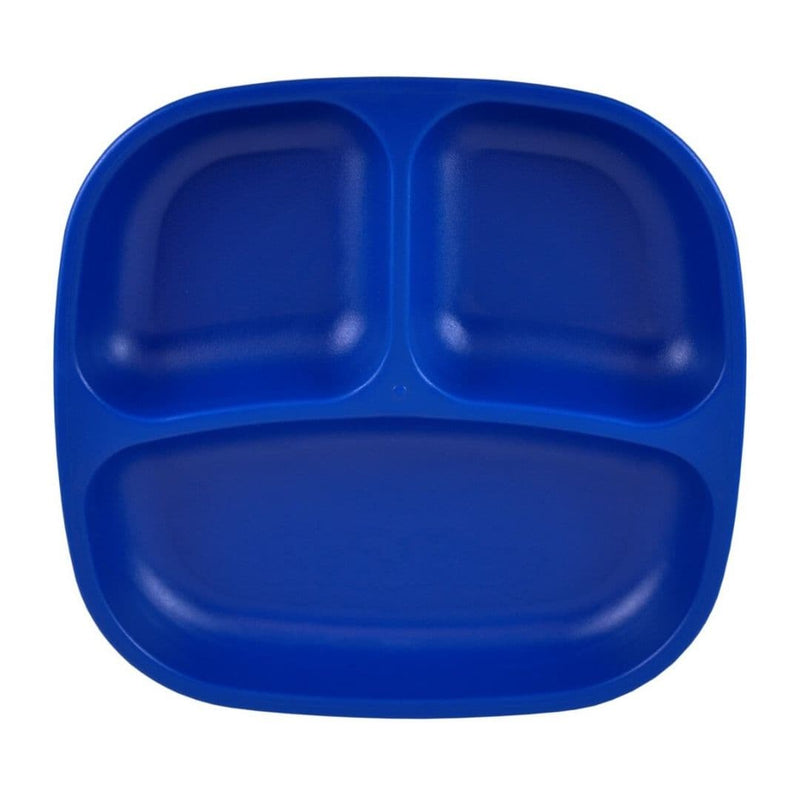 Re-Play Divided Plate Navy Blue