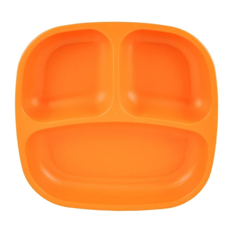 Re-Play Divided Plate Orange