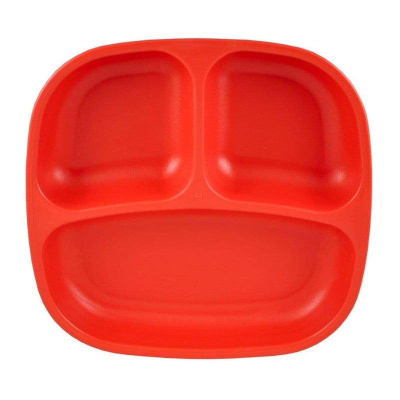 Re-Play Divided Plate Red