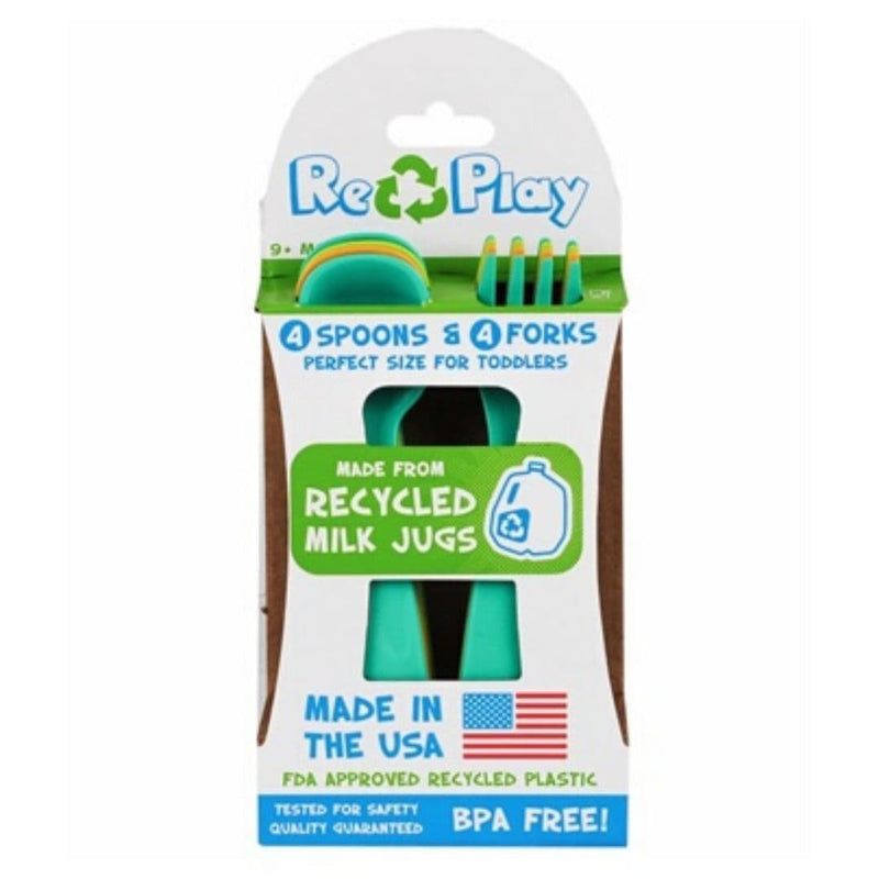 Re-Play Utensils Forks & Spoons (Set of 4) Boy Box