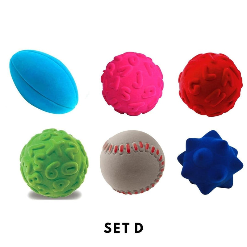 Rubbabu Bouncy Balls Set (6 balls) Set D