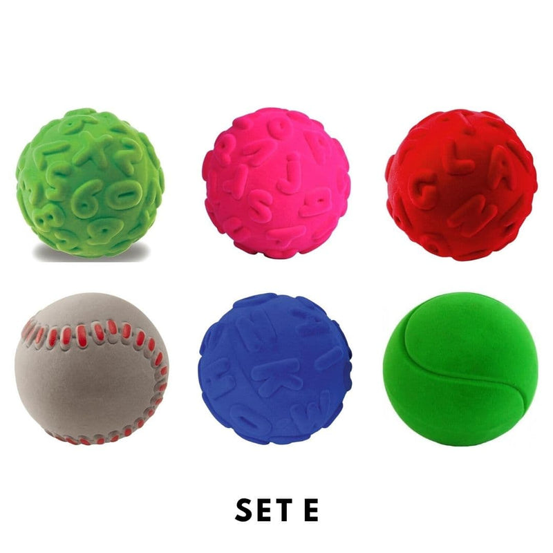 Rubbabu Bouncy Balls Set (6 balls) Set E