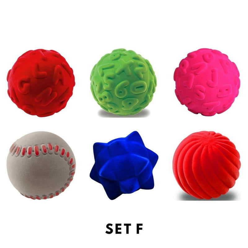 Rubbabu Bouncy Balls Set (6 balls) Set F