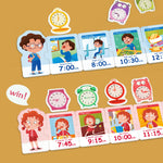 Tick-tock Board Game kids would learn to plan their time independently