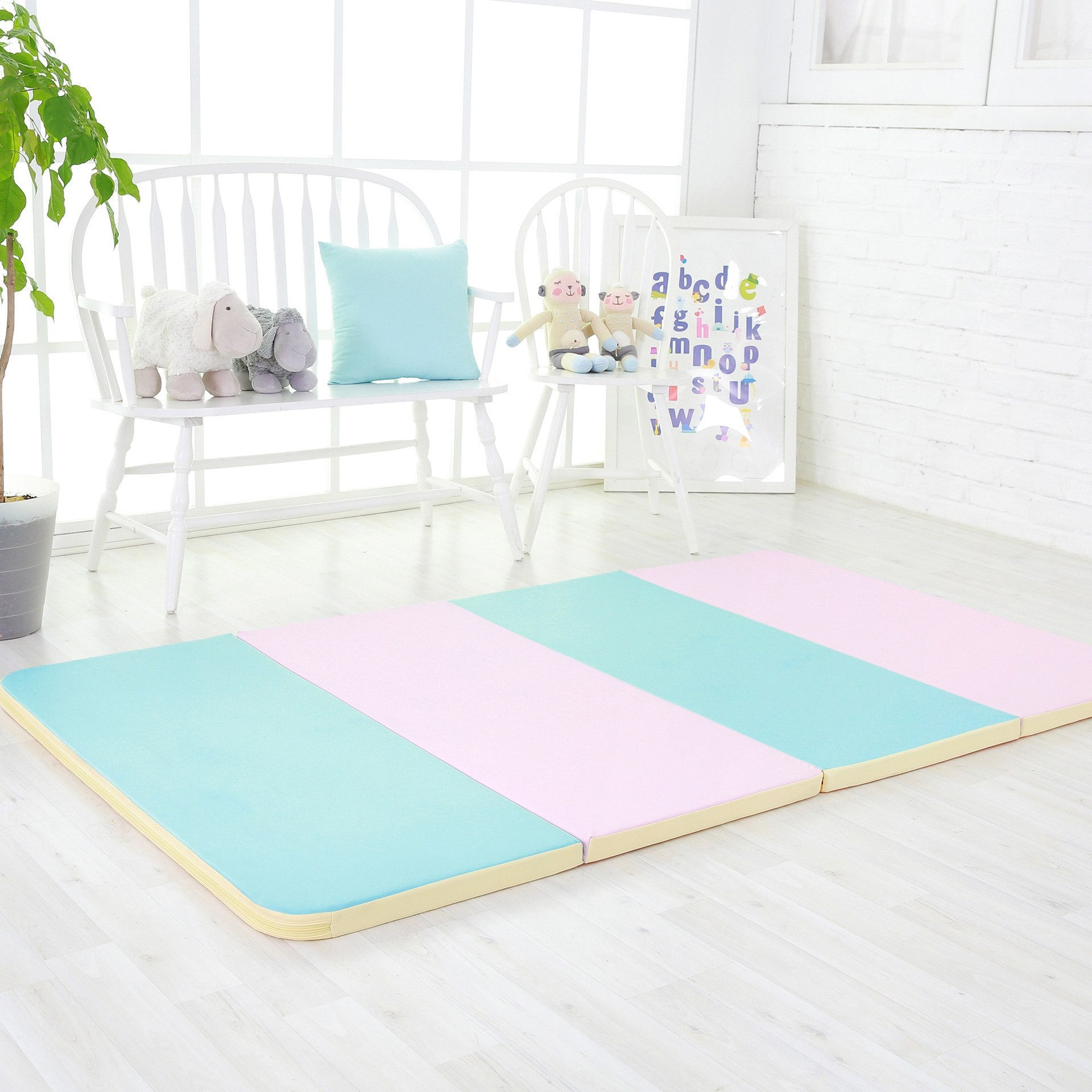 marshmallow baby play mat (foldable)  ifam (made in south korea  - baby mats  marshmallow folder baby mat