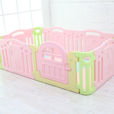 Natural Baby Play Yard with Door Set (10pcs 221x149cm)