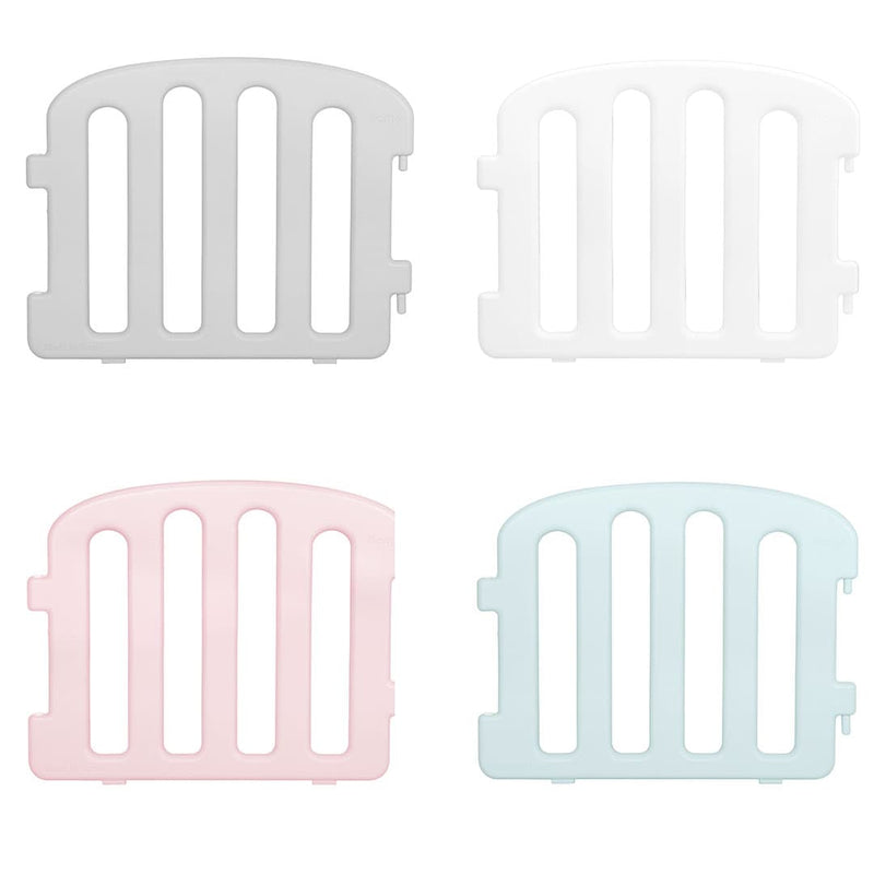Baby play yard side panel with see-through holes. Comes in 4 different colours - grey, white, blue and pink.