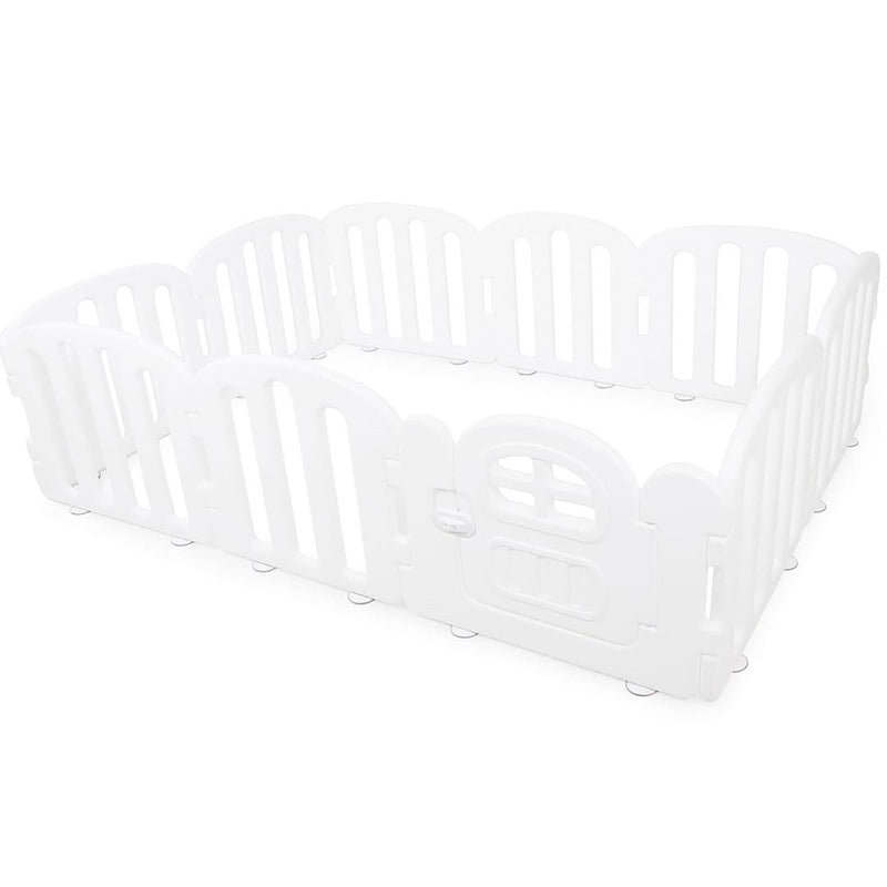 Baby FIRST Play Yard with Door Set (10pcs 207x147cm) - Pure White