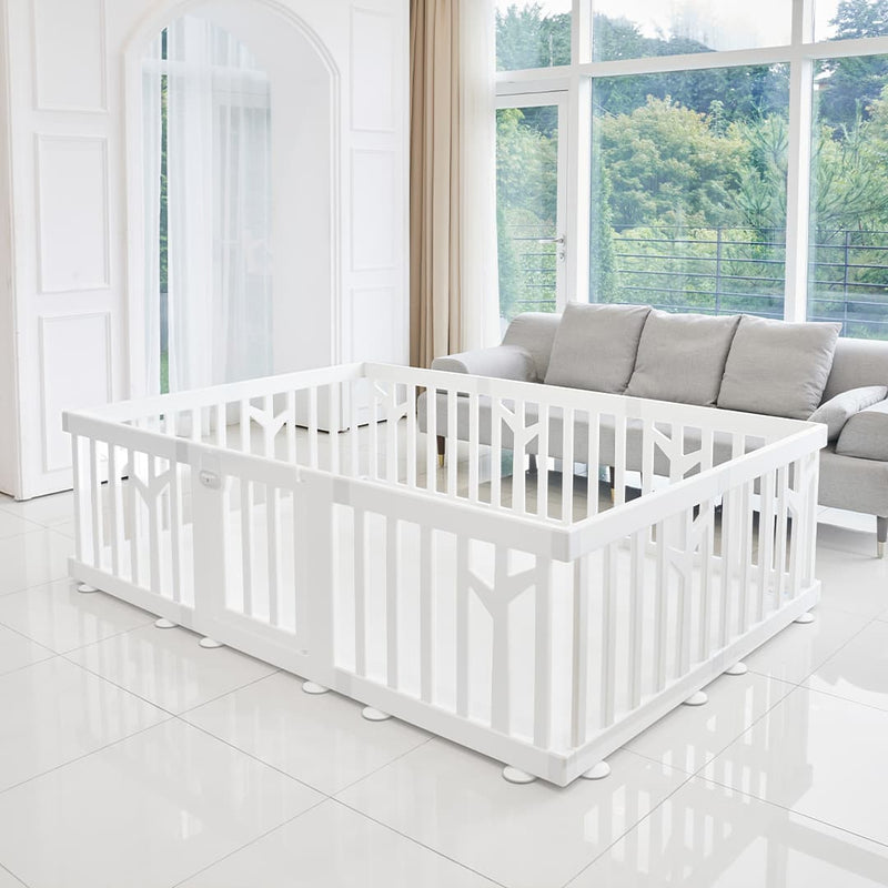 birch baby play yard white