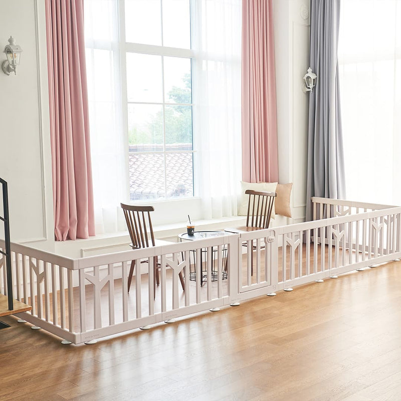 birch baby play yard childproofing area