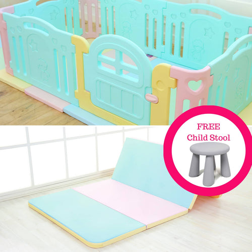 Marshmallow Baby Play Mat + Play Yard Bundle + FREE Delivery & Children Stool - Adertek Lifestyle - Adertek Lifestyle