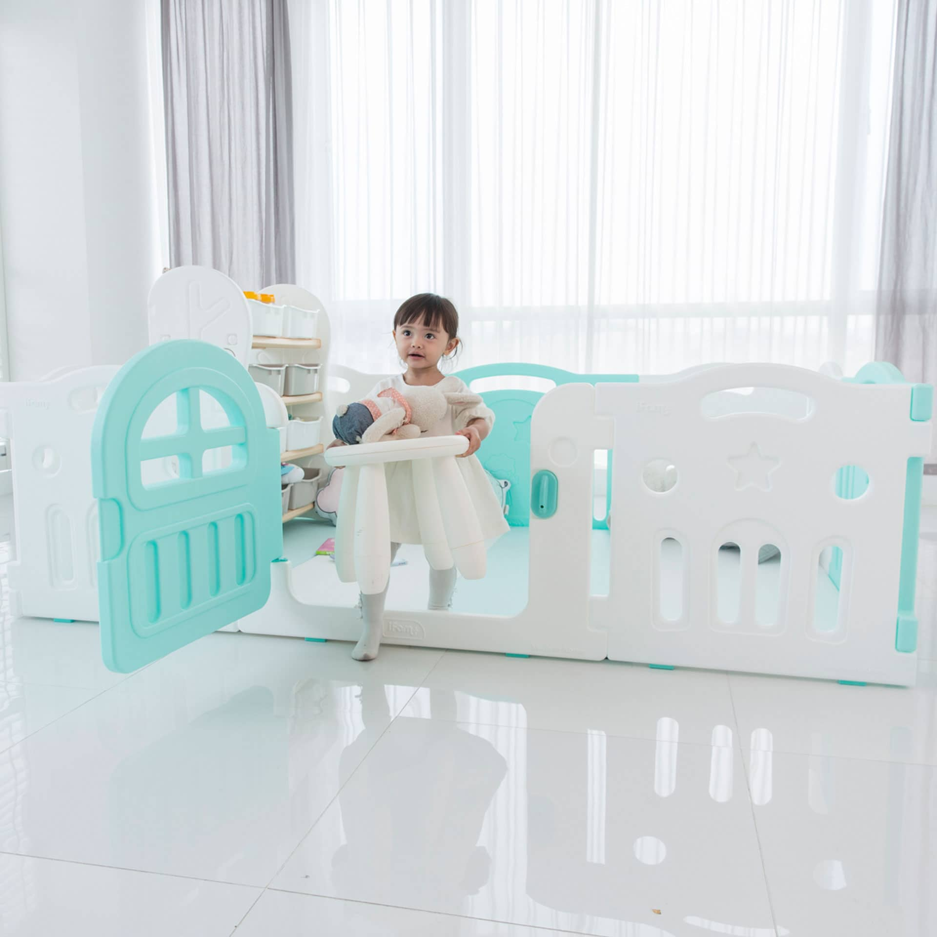 Create a safe & secured play environment for your little one with IFAM Play Yards.