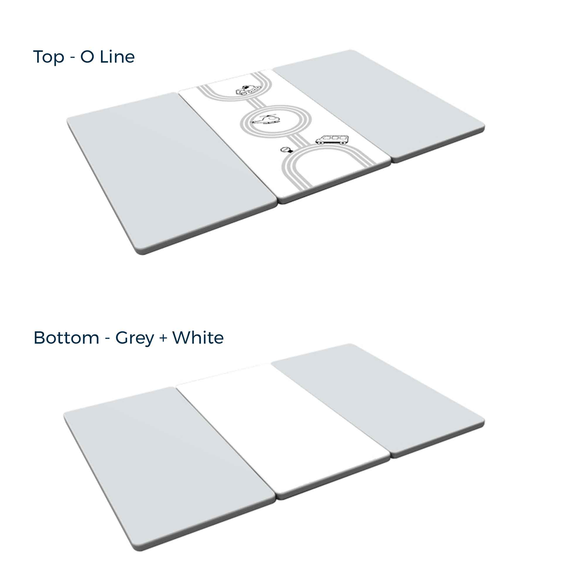 Mono Grey Baby Play Mat (Foldable) - IFAM (Made in South Korea) - Adertek Lifestyle