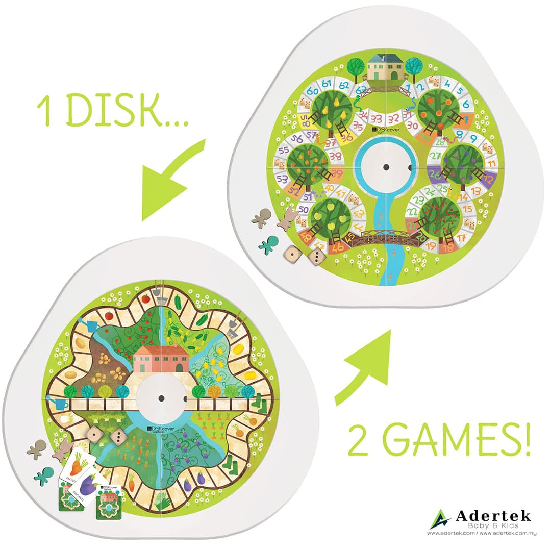 Diskcover Fruits Vegetables Puzzle & Activity Board