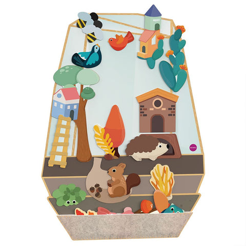 VertiPlay™ Mr. Squirrel's House - Two Layer Jigsaw Puzzle