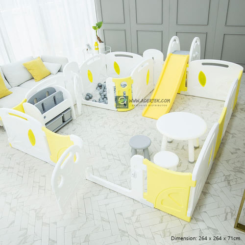(Pre-Order) Lemon Baby Play Yard - 2 Rooms - IFAM (Made in South Korea) - Adertek Lifestyle
