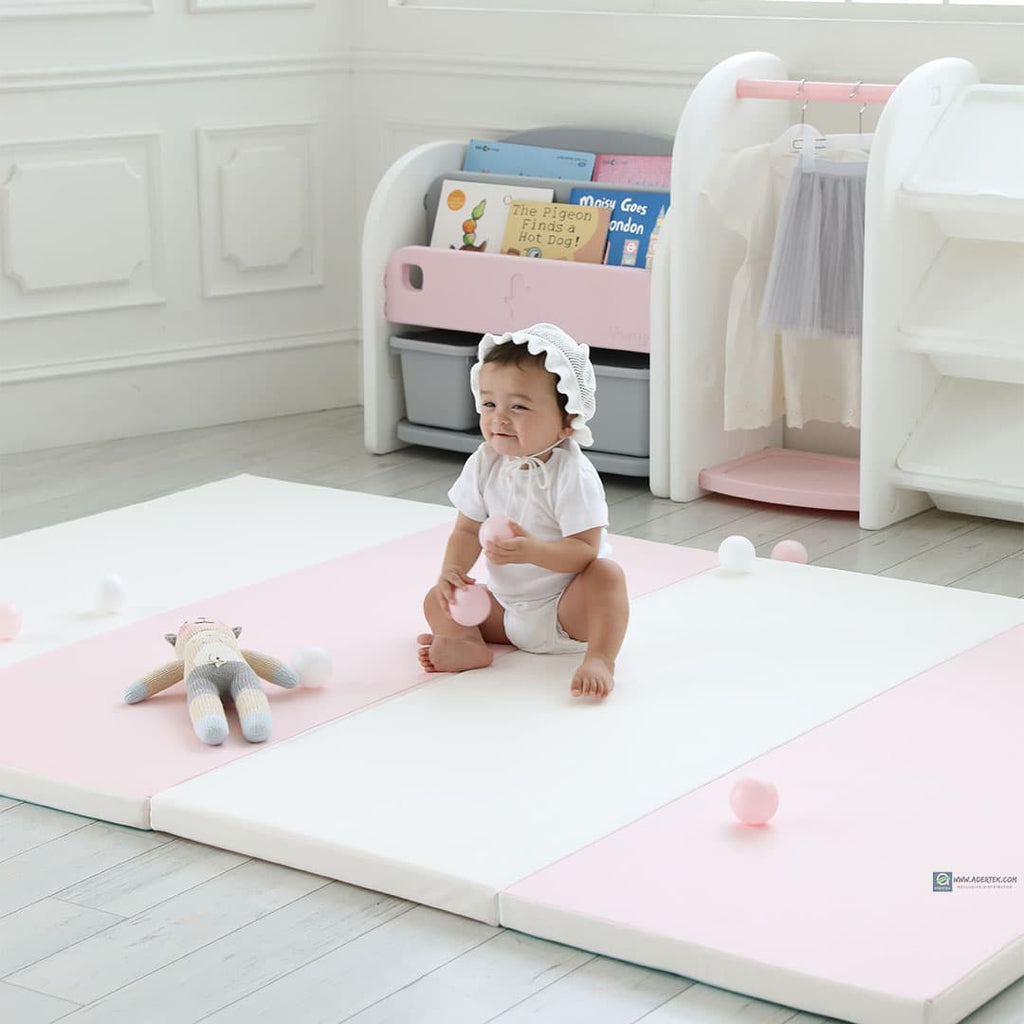 IFAM LOVE U Baby Play Mat - 2 sides usable (Pink+Cream side)
