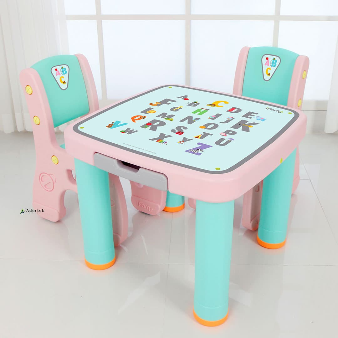 (Pre-Order) Marshmallow Childrens Table & Chairs - Alphabet