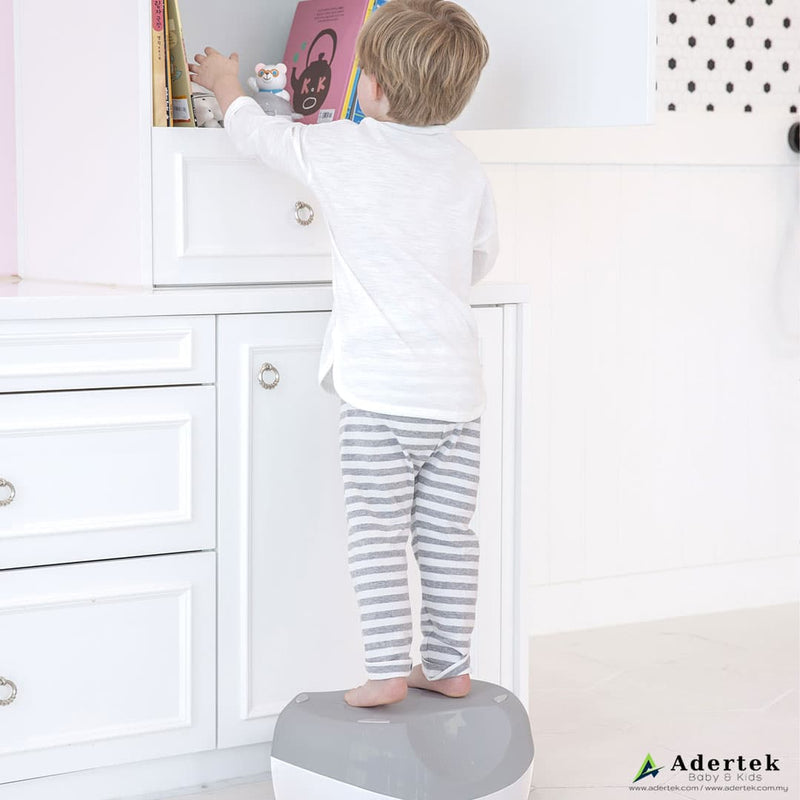 Function as a step stool to access higher cabinets