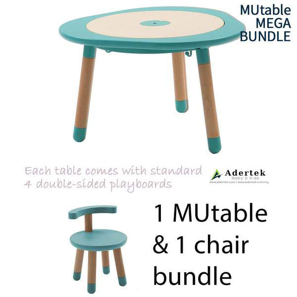 MUtable Bundle - Children Activity Play Table + 1 Chair (5% OFF) - Mint
