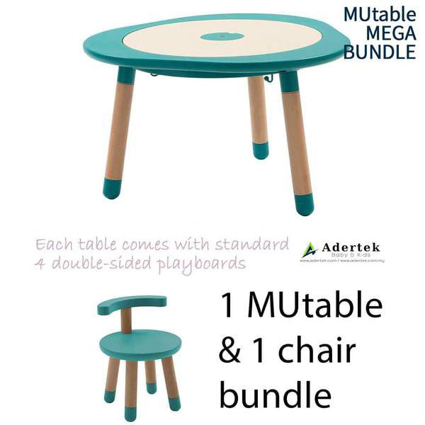 MUtable Bundle - Children Activity Play Table + 1 Chair (5% OFF) - Tiffany