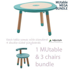 MUtable Bundle - Children Activity Play Table + 3 Chairs (6% OFF) - Mint